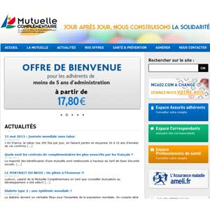Page d'accueil site MC602