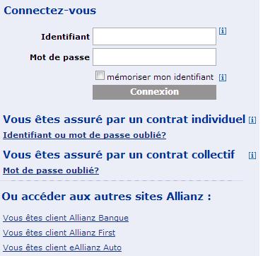 Connectez vous à votre compte Allianz